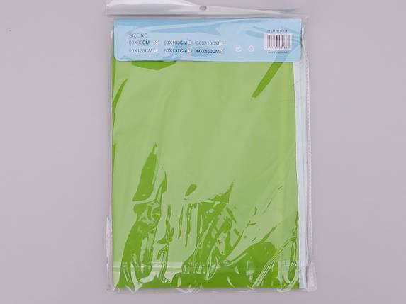 Чехол для хранения одежды плащевка салатового цвета. Размер 60х160 cм, фото 2