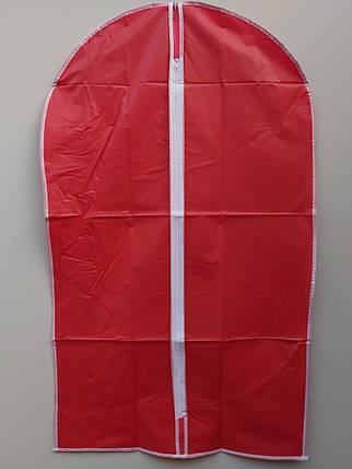 Чехол для хранения одежды плащевка красного цвета. Размер 60х160 cм, фото 2