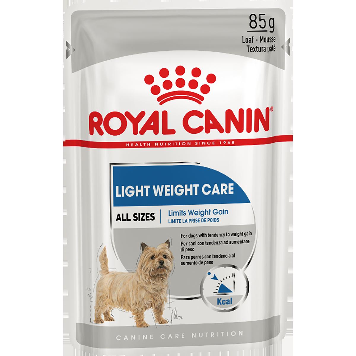 Консервированный корм для собак ROYAL CANIN LIGHT WEIGHT CARE паштет, 12шт*85 г