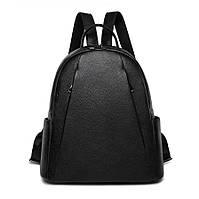 Рюкзак женский кожаный  городской стильный. Рюкзак из натуральной кожи (черный)