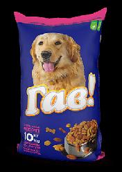 Корм Гав М'ясне асорті повнорацiонний для дорослих собак всіх порід 10 кг