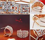 Комплект украшений серьги и цепочка с кулоном код 945, фото 8