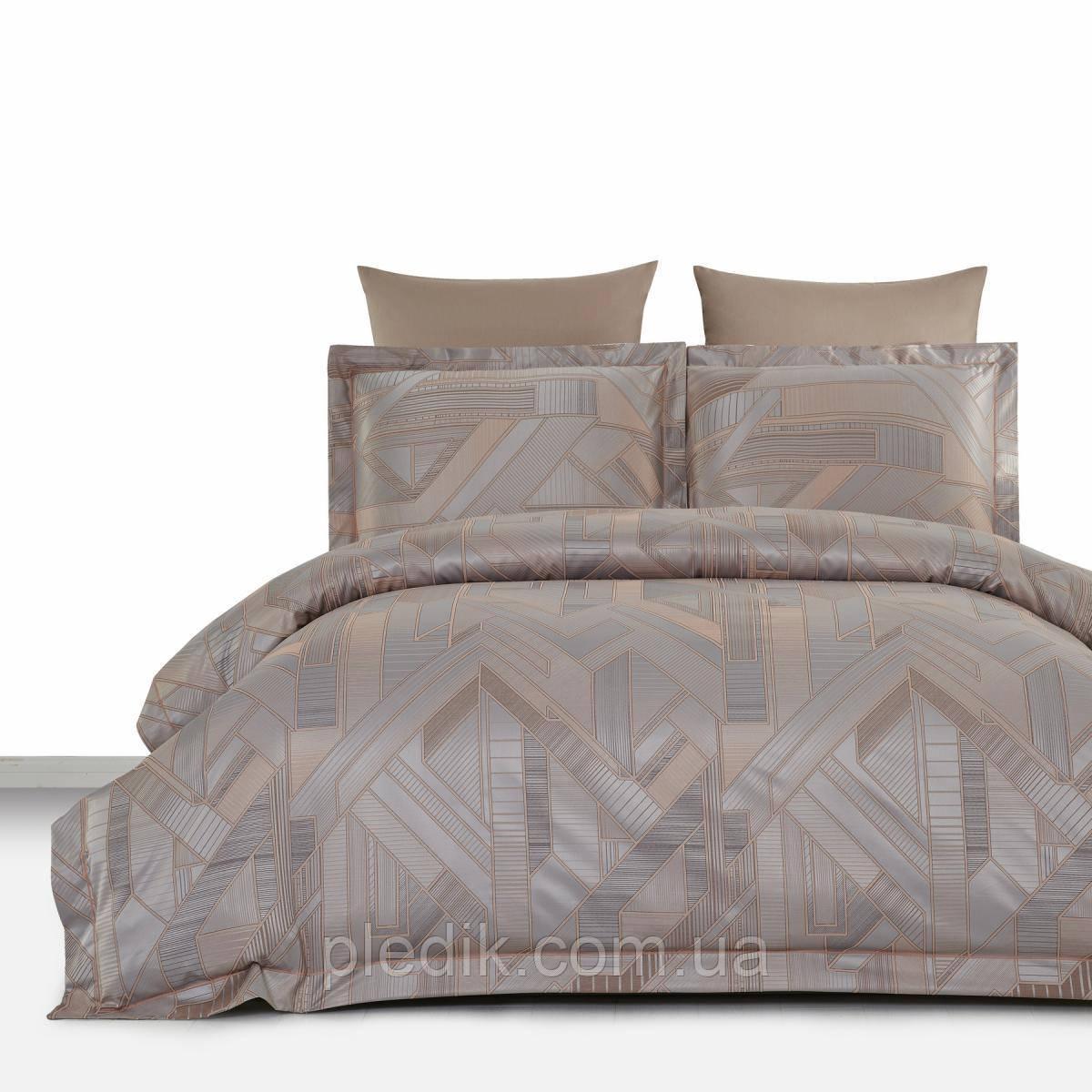 Двуспальное постельное белье 200х220 Arya Бамбук-жаккард Tencel Kalina