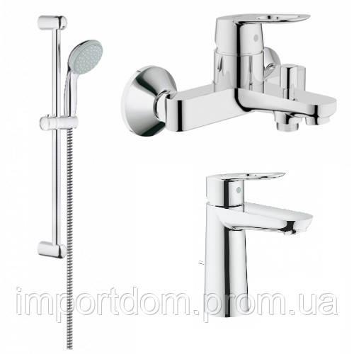 Набір змішувачів для ванни Grohe BauLoop 123215M хром