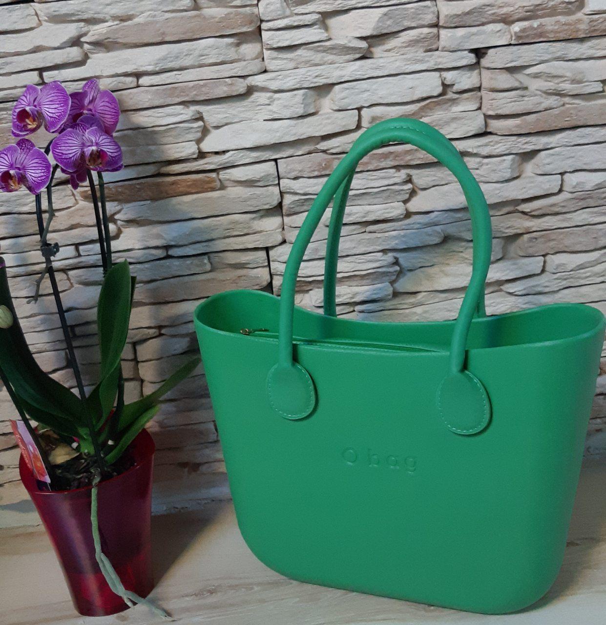 Женская сумка O bag classic в зеленом  корпусе