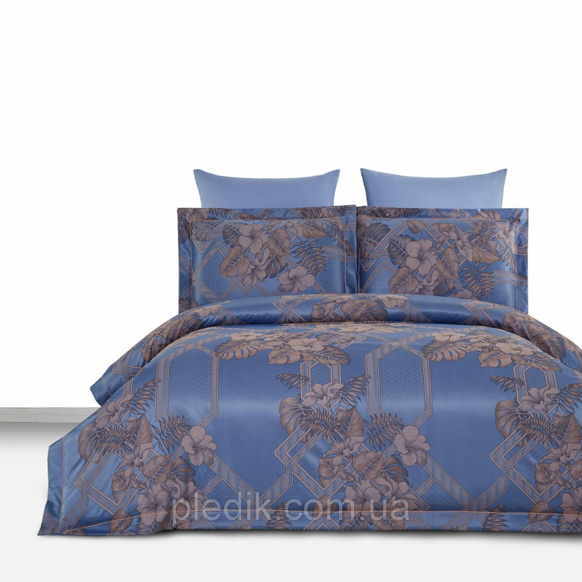 Двуспальное постельное белье 200х220 Arya Бамбук-жаккард Tencel Emili