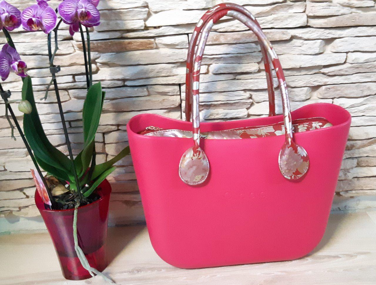 Женская сумка O bag classic в розовом   корпусе