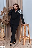 Модный костюм с брюками батал, фото 1