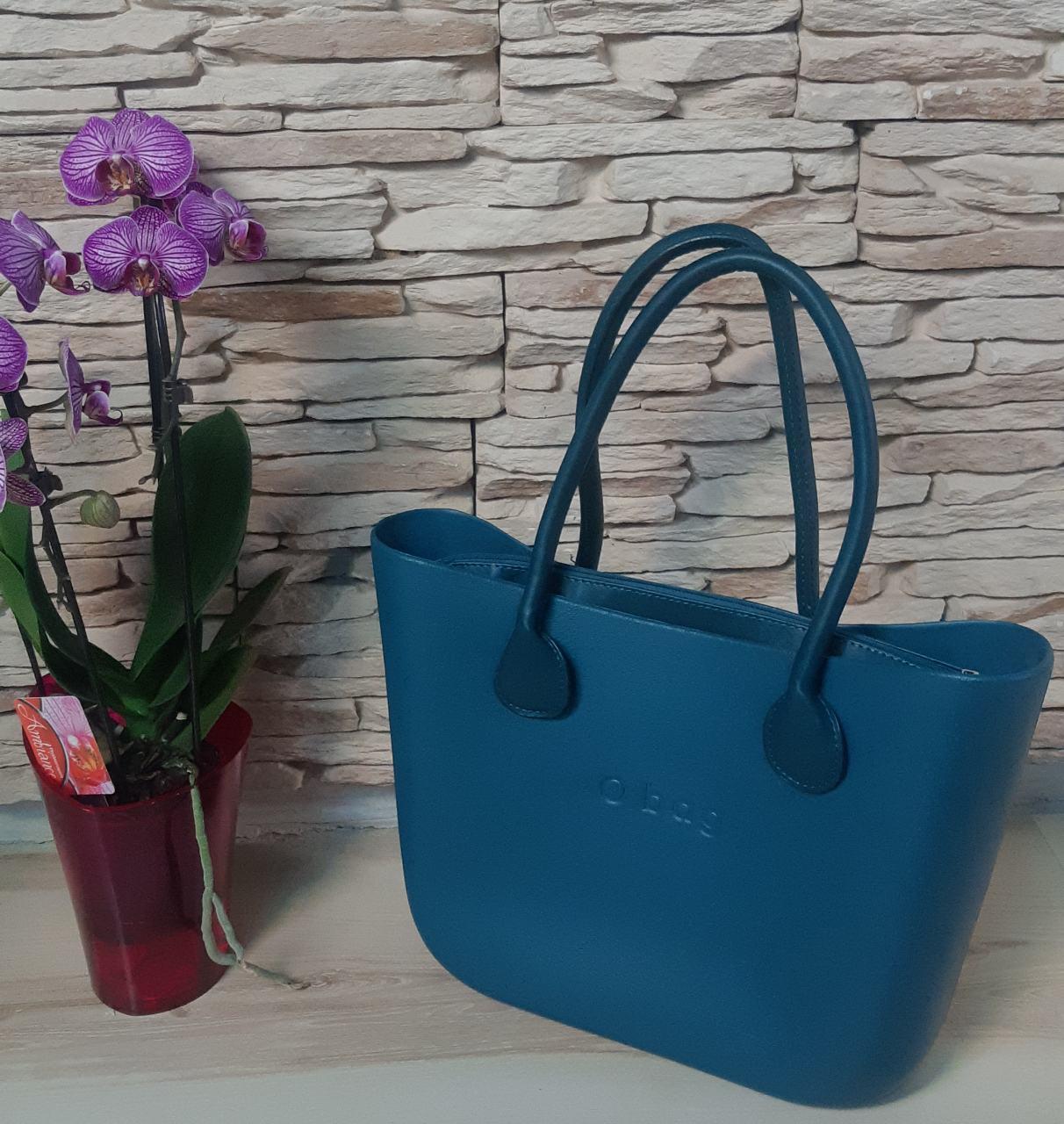 Женская сумка O bag classic в синим  корпусе