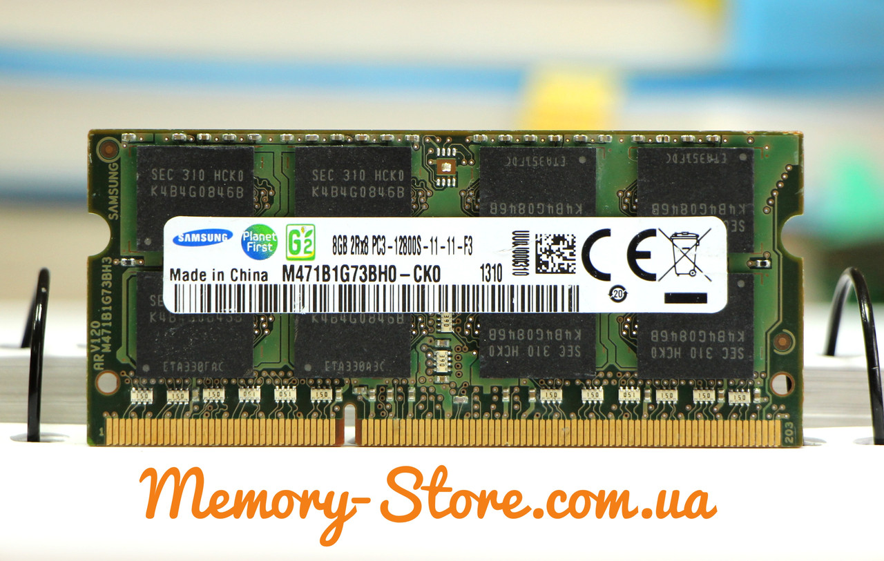 Оперативная память для ноутбука Samsung DDR3 8GB PC3-12800S 1600MHZ 1.5V sodimm (б/у)