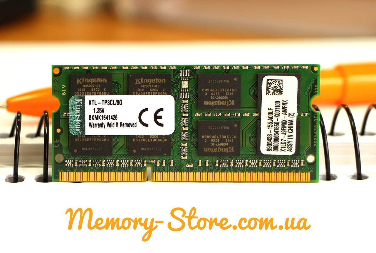 Оперативная память для ноутбука Kingston  DDR3 8GB PC3L-12800S 1.35V SODIMM (б/у)