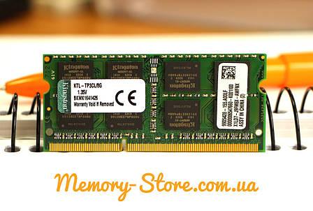 Оперативная память для ноутбука Kingston  DDR3 8GB PC3L-12800S 1.35V SODIMM (б/у), фото 2