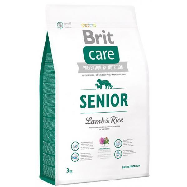 Корм для собак Brit Care Senior Lamb & Rice 3кг