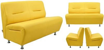 Диван двухместный Смарт желтый - картинка