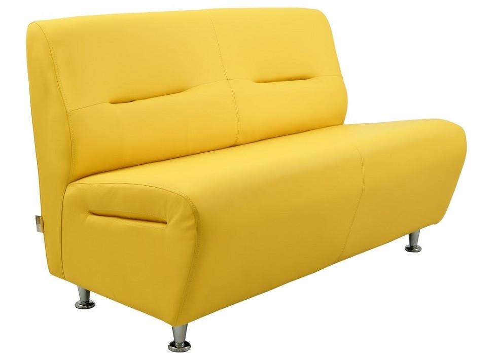 Диван двухместный Смарт желтый Rich