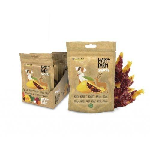Лакомство для собак оленина с манго CROCI HAPPY FARM 80 г