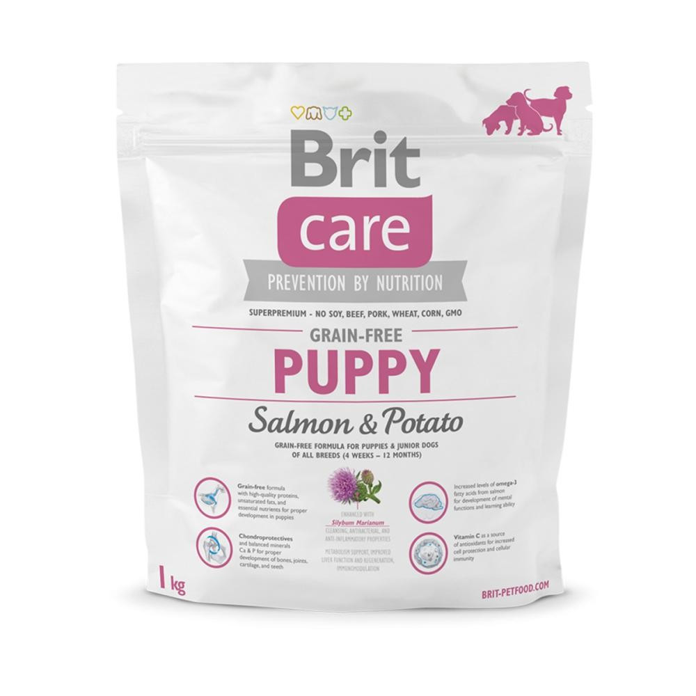 Корм для щенков Brit Care Grain-free Puppy Salmon & Potato 1кг