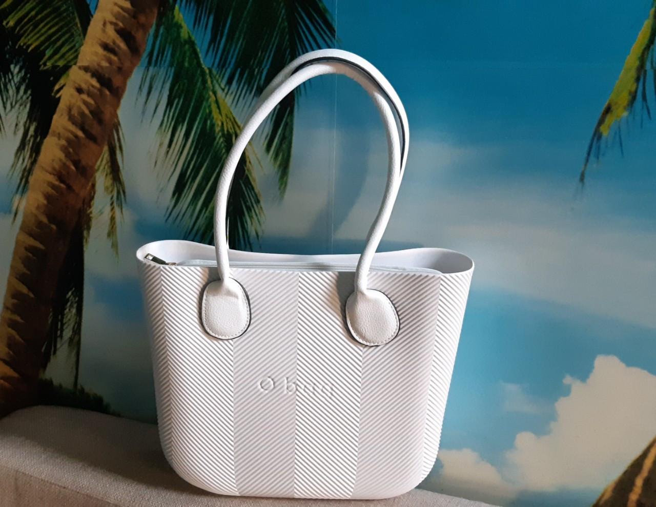 Женская сумка O bag mini в белом  переплете корпуса