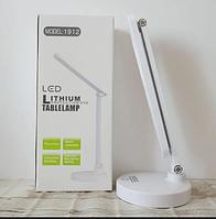 ВИДЕО-Сенсорная настольная LED лампа трансформер большая, 3 режима света с аккумулятором 18650