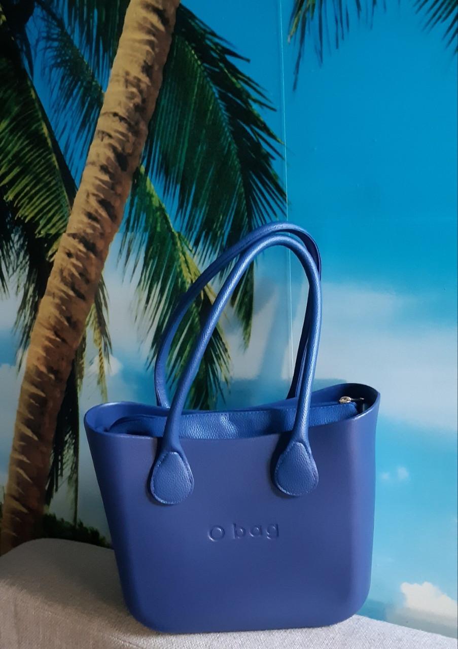 Женская сумка O bag mini в синим   переплете корпуса