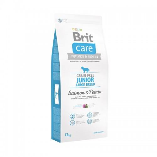 Корм для собак Brit Care Grain-free Junior Large Breed Salmon & Potato 12кг