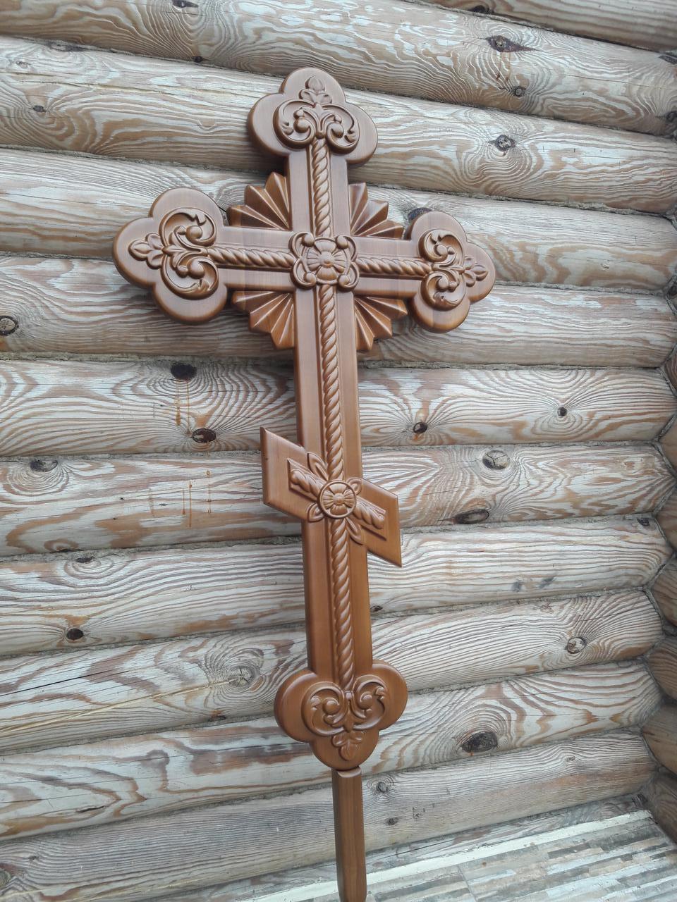 Хрест різьблений запрестольний, виносний