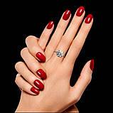 Классическое кольцо из серебра с черным камнем 15.5 размер, фото 3