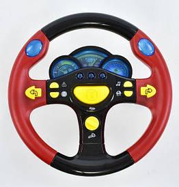 """Музыкальный руль Play Smart """"Я тоже рулю"""" диаметр 24,5см, цвет красный (7044)"""