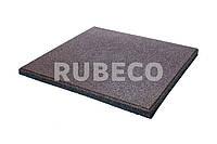 Резиновая плитка 20мм цвет коричневый 500/500мм. Резиновые плиты 2см коричневая 50*50 см