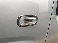 Обводка поворотника (2 шт, нерж.) Fiat Punto Grande/EVO 2006↗ и 2011↗ гг.
