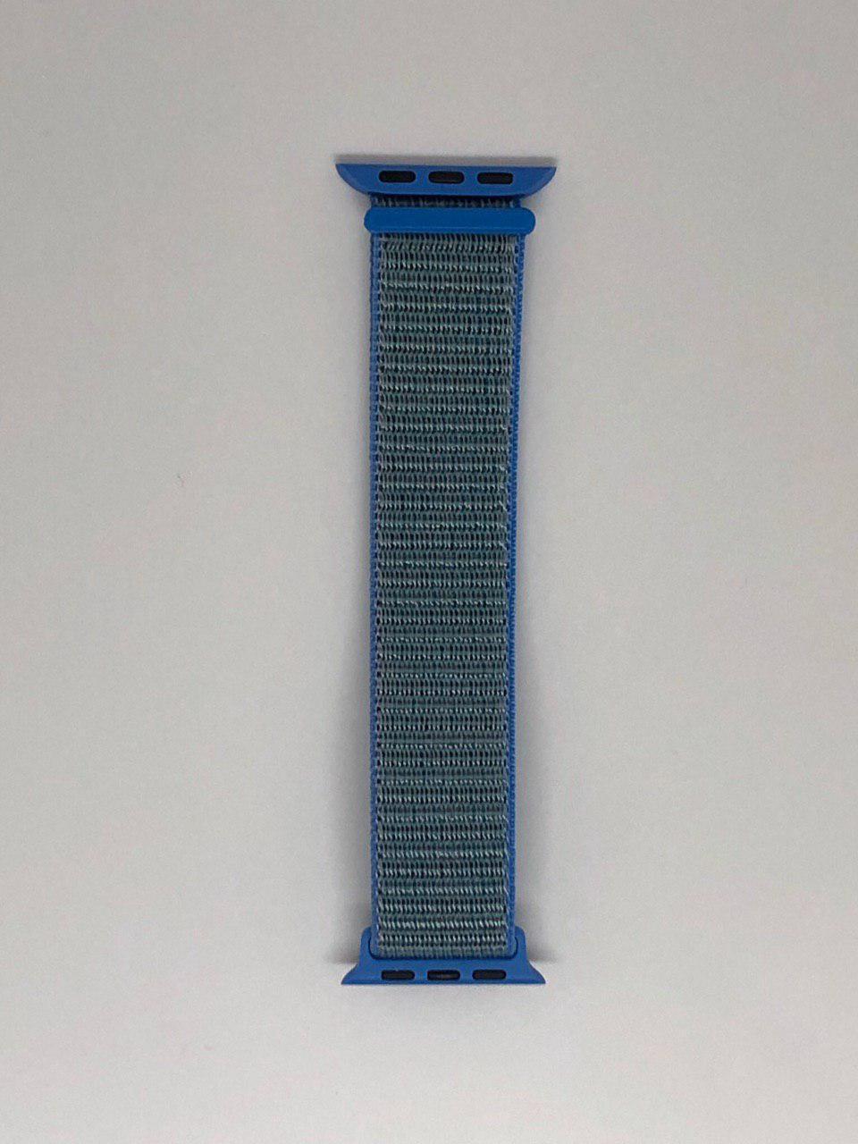 """Нейлоновый ремешок """"Tahoe Blue №15"""" для Apple watch 38/40 mm"""