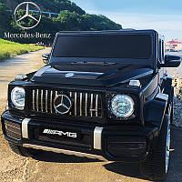 Детский электромобиль Джип M 4214 EBLR-2, Mercedes-Benz G63, музыка, свет, колеса EVA, сиденье кожа, черный