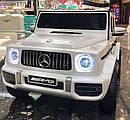 Детский электромобиль Джип M 4214 EBLR-1, Mercedes-Benz G63, музыка, свет, колеса EVA, сиденье кожа, белый, фото 4