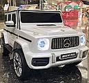 Детский электромобиль Джип M 4214 EBLR-1, Mercedes-Benz G63, музыка, свет, колеса EVA, сиденье кожа, белый, фото 3