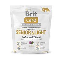 Корм для собак Brit Care Grain-free Senior & Light Salmon & Potato 1кг