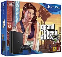 Игровая приставка Sony PlayStation 4 Slim 500GB + Fortnite + GTA V консоль