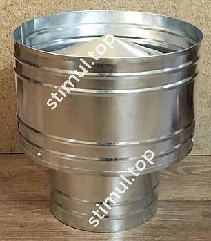 Дефлектор для дымохода 200 мм х 0.45 мм - волпер оцинкованный, фото 2
