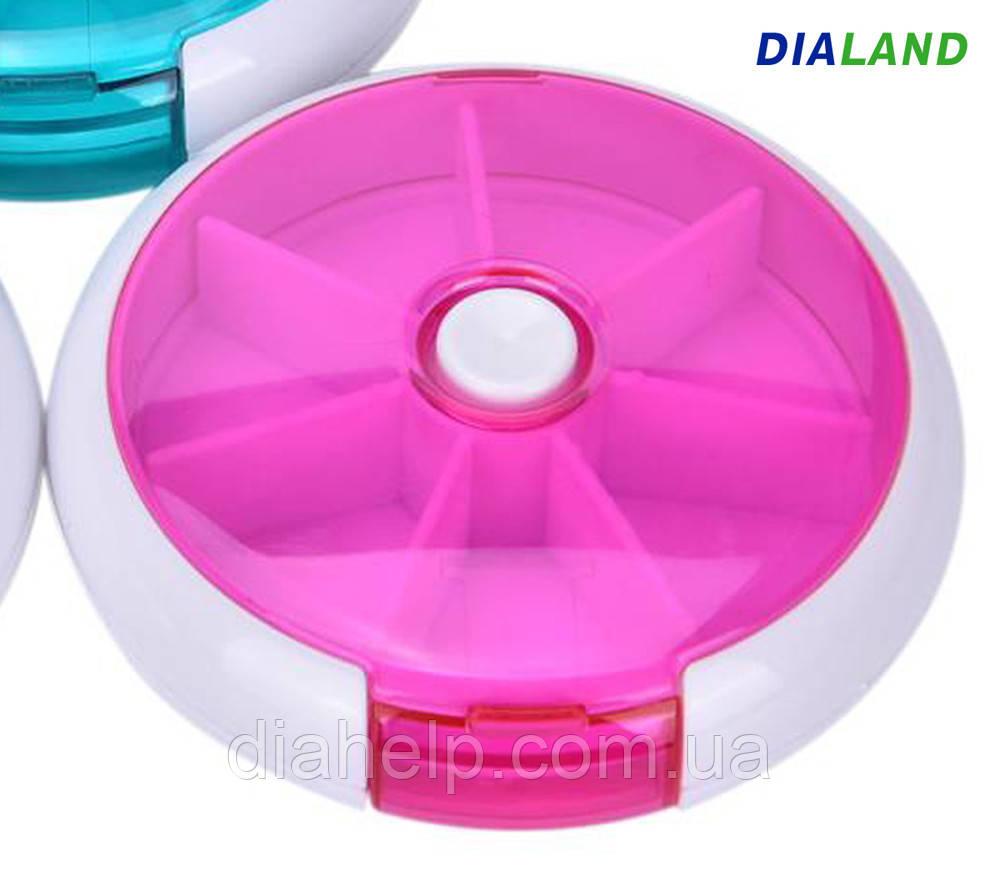 Таблетница PILL BOX (органайзер для таблеток) розовая