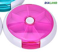 Таблетница PILL BOX (органайзер для таблеток) розовая, фото 1