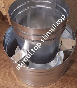 Дефлектор для дымохода 140 мм х 0.45 мм - волпер оцинкованный, фото 2