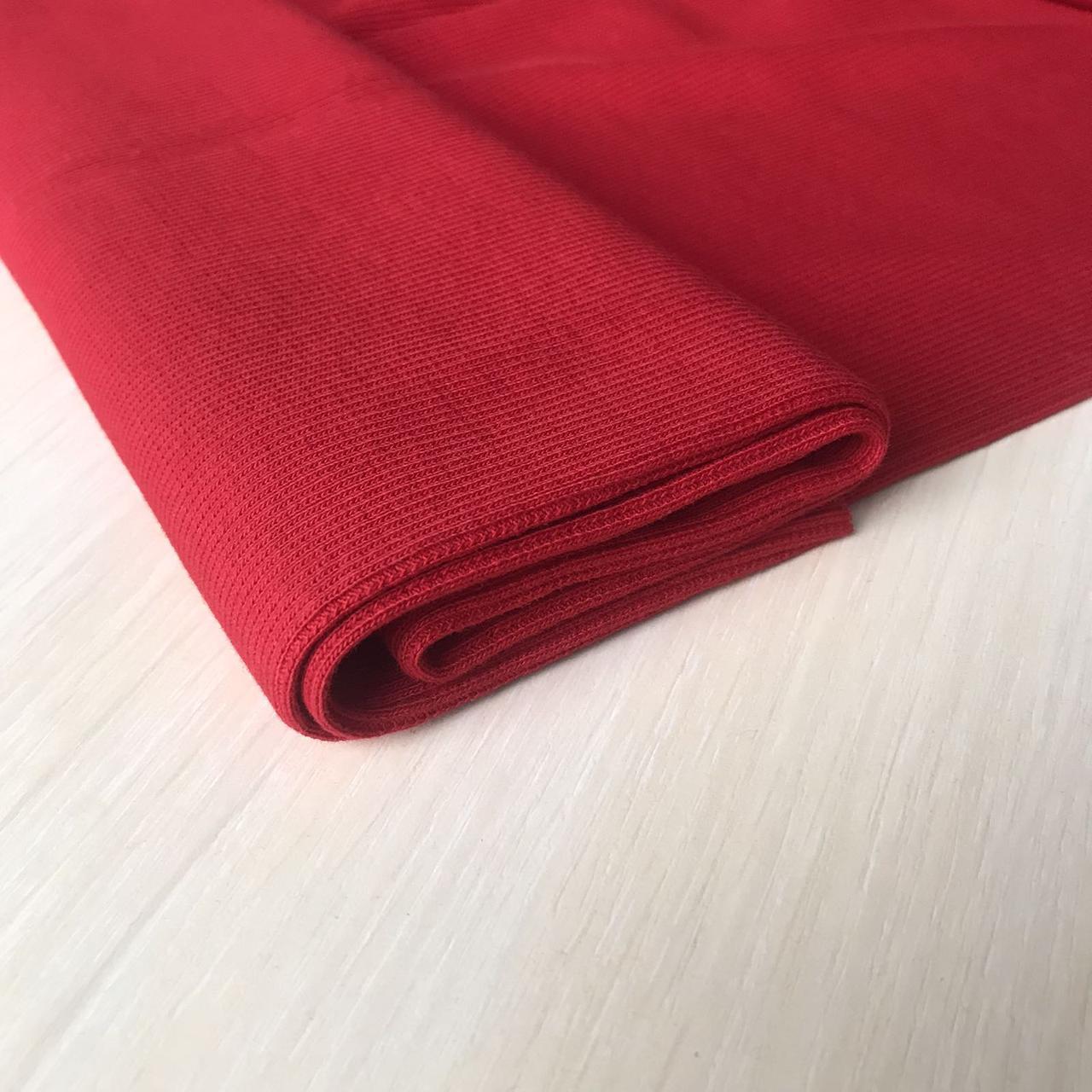 Трикотаж кашкорсе Красный, чулок 60см.