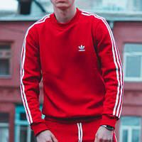 Теплый свитшот Adidas Badge красный