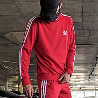 Свитшот в стиле Adidas Badge красный
