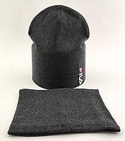 Оптом шапки 50 52 и 54 размер трикотажная детская с хомутом шапка головные уборы детские опт, фото 1