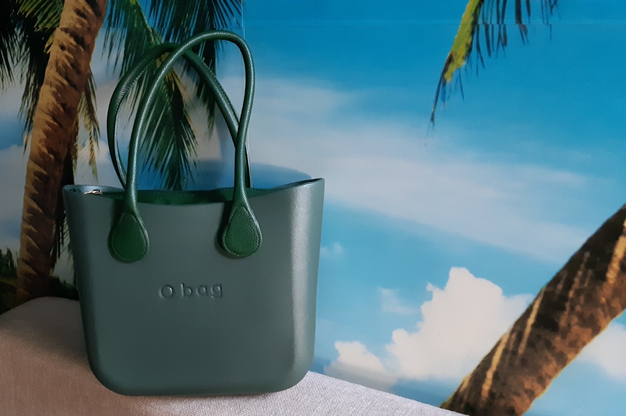 Женская сумка O bag mini в зеленом переплете   корпуса