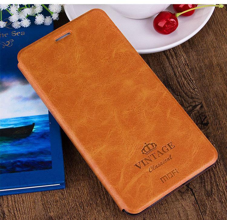 Чехол книжка Mofi Vintage для Xiaomi Redmi 8A Коричневый