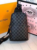 Крутая мужская нагрудная сумка Louis Vuitton, фото 1