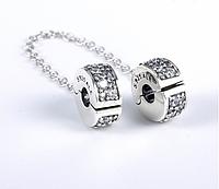 Срібна захисна ланцюжок-кліпса для Браслета Pandora