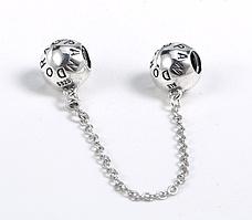 Серебряная защитная цепочка Пандора
