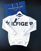 Мужской свитшот TOMMY HILFIGER белый с большим логотипом (реплика)
